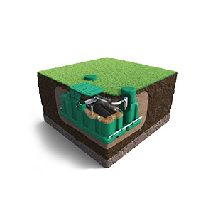 ecoflo green septic system pack open in ground