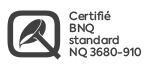 Logo certification BNQ NQ 3680-910.