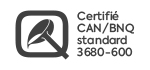 Logo certification CAN/BNQ 3680-600.