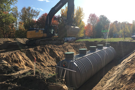 installation of a underground water tank by rewatec