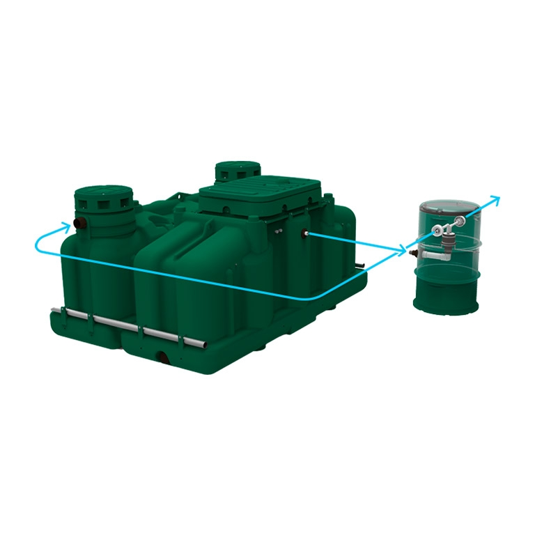 nitrogen reduction septic system rewatec