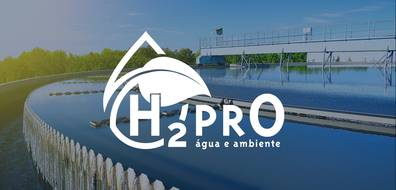 Logo for Portuguese water and wastewater treatment company H2PRO.
