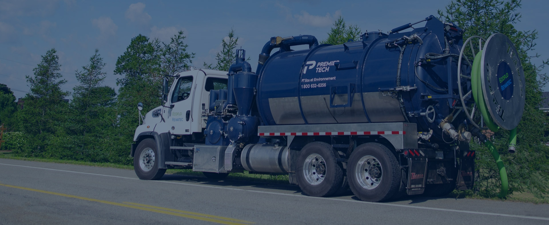 Septic service and parts vacuum truck