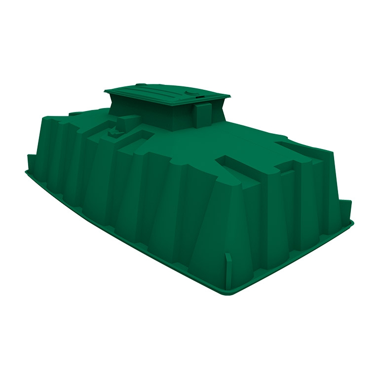 ecoflo green septic system with durable fiberglass shell