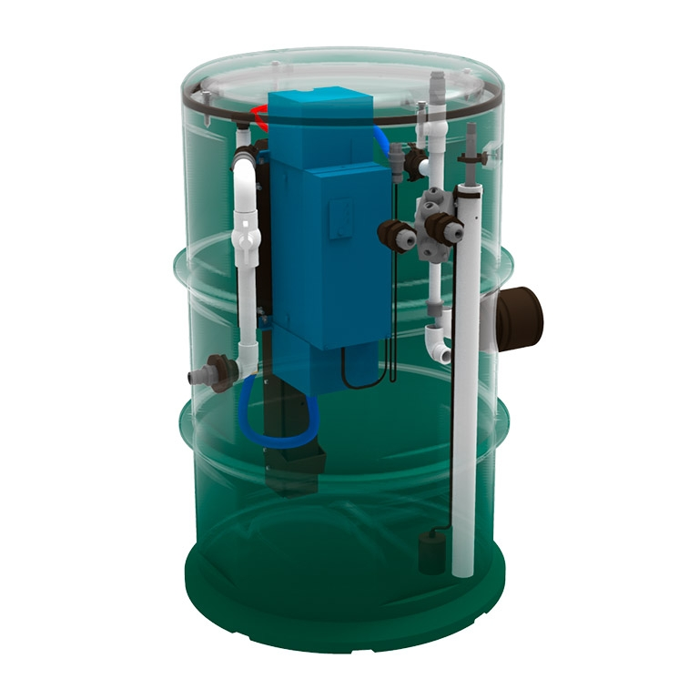 residential self cleaning tank uv disinfection septic system
